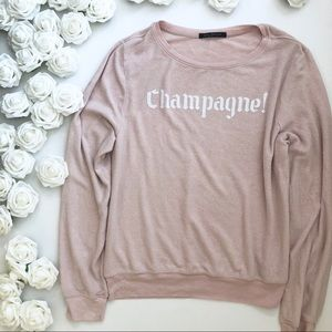 Wildfox Champagne Graphic Jumper